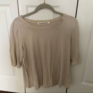 Flowy tan t-shirt